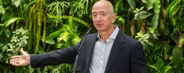 Jeff Bezos at Amazon Spheres Grand Opening in Seattle. Photo: Seattle City Council