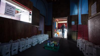 A food bank in Palmer's Green, North London. Credit: Mazur/cbcew.org.uk.